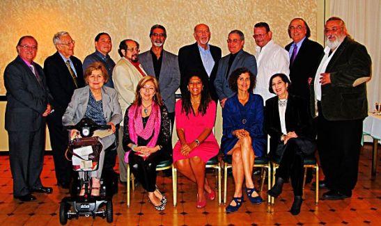 Miembros del Jurado y escritores galardonados.