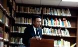 El Presidente de Isla Negra Editores Carlos Roberto Gómez.