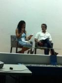 Yvonne Denis habla de la Revista Cuadrivium de la Universidad de Puerto Rico en Humacao junto a José Muratti.