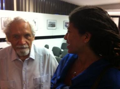 Junto a Pablo Armando, poeta cubano premio nacional de literatura.