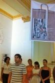 Apertura de exposición de Antonio Martorell realizada por los estudiantes de artes plásticas de la Universidad de La Habana.