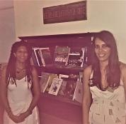 Espacio designado donde ubicarán los libros de literatura puertorriqueña en la Biblioteca Vicentina Antuña.