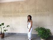 Vestíbulo del Edificio Juan Miguel DIhigo en la Facultad de Artes y Letras.