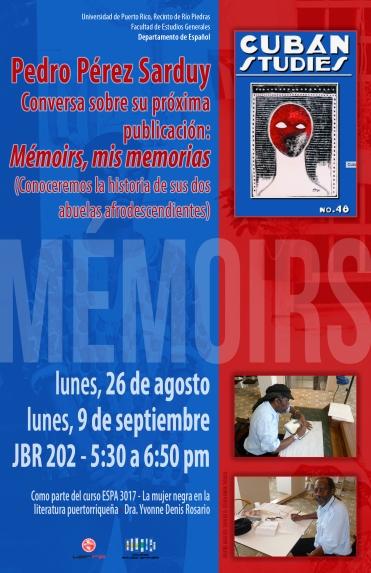 Afiche Mémoirs, Mis memorias